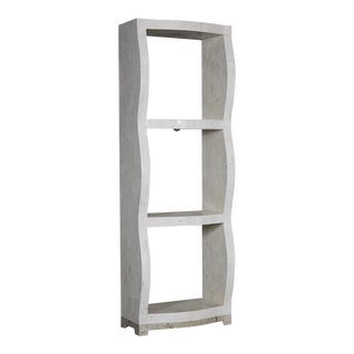 "1990s Postmodern Three Shelf Tessellated Stone ""Monaco"" Étagère For Sale"