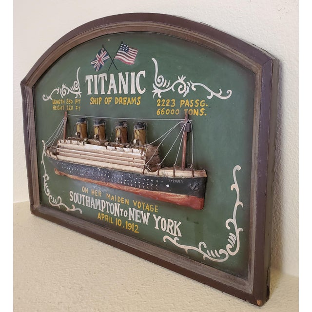 """Original Early 20th Century Mixed Media Art """"Remember the Titanic"""" For Sale - Image 9 of 13"""