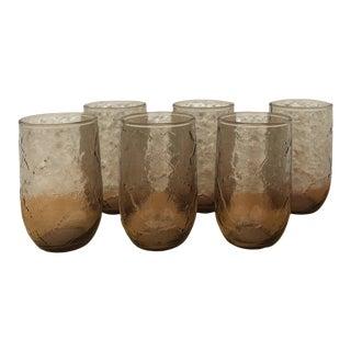 Vintage Anchor Hocking Spicy Brown Sherwood Juice Glasses - Set of 6 For Sale