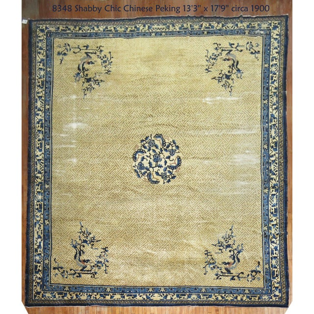 Overisze Antique Chinese Rug, 13'3'' X 17'9'' For Sale - Image 13 of 13