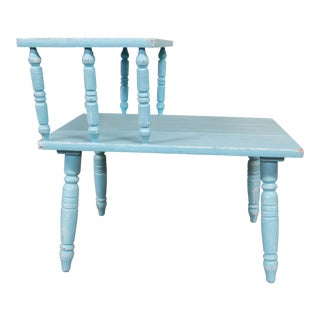 Robin's Egg Blue Side Table