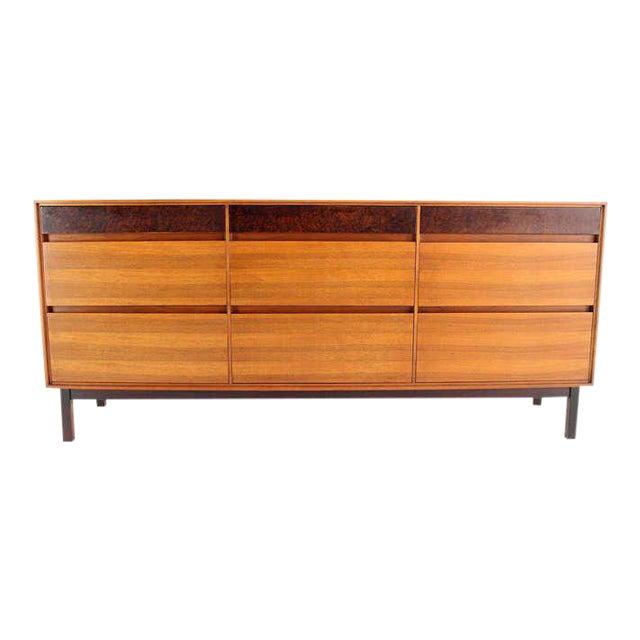 Danish Mid-Century Modern Walnut Long Dresser or Credenza by John Stuart For Sale