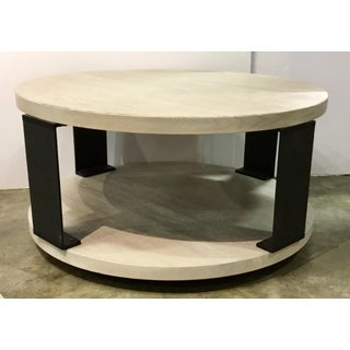 Organic Modern Universal Wilder Round Wood and Metal Cocktail Table Preview