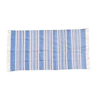 Parsley Rug, 6x9, Cornflower Blue & White For Sale