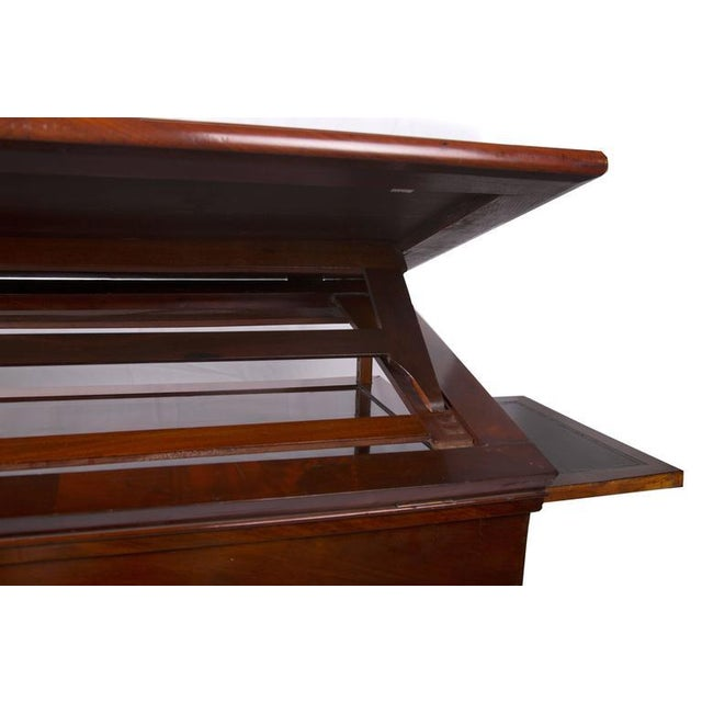 19th Century French Empire Mahogany Architect's Desk For Sale - Image 4 of 5