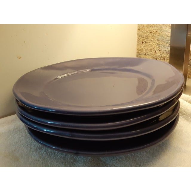 Elite Italian handcrafted dinnerware. These aubergine color plates are quite thick and substantial with an elegant...