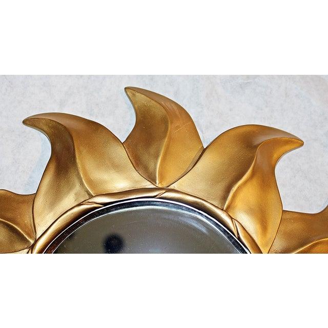 Gold Sunflower Framed Round Mirror - Image 5 of 5