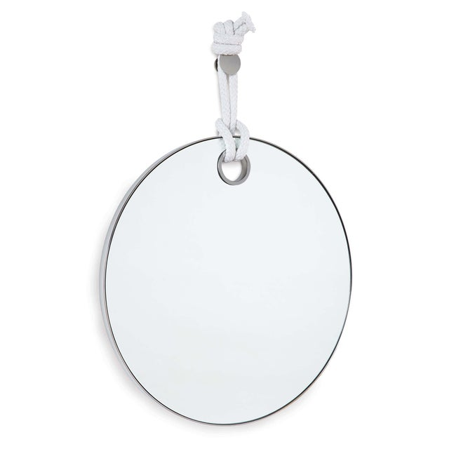 Not Yet Made - Made To Order Porter Mirror in Polished Nickel For Sale - Image 5 of 5