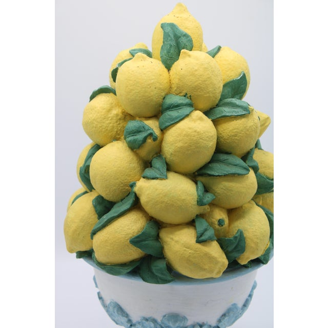 Tall Vintage French Lemon Topiary Basket / Centerpiece For Sale - Image 9 of 11
