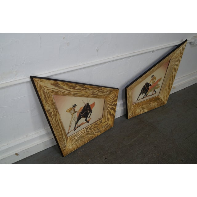 Carlo of Hollywood Bull Fighter Watercolors - A Pair - Image 7 of 10