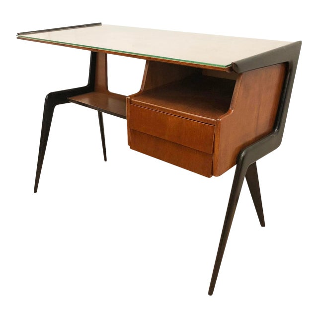Italian Mid-Century Desk in the Manner of Silvio Cavatorta For Sale