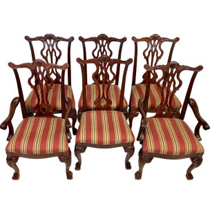 Vintage Thomasville Furniture Chippendale Dining Chairs - Set of 6 For Sale