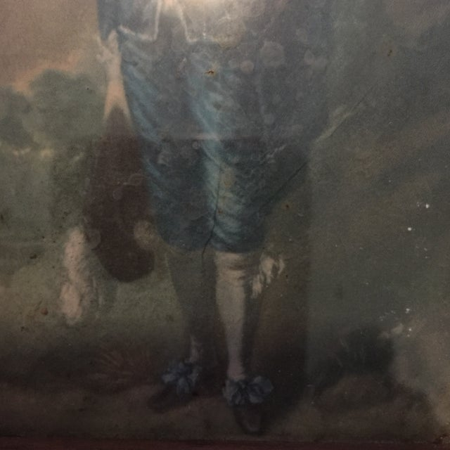 """""""Boy in Blue"""" Antique Painting - Image 4 of 5"""