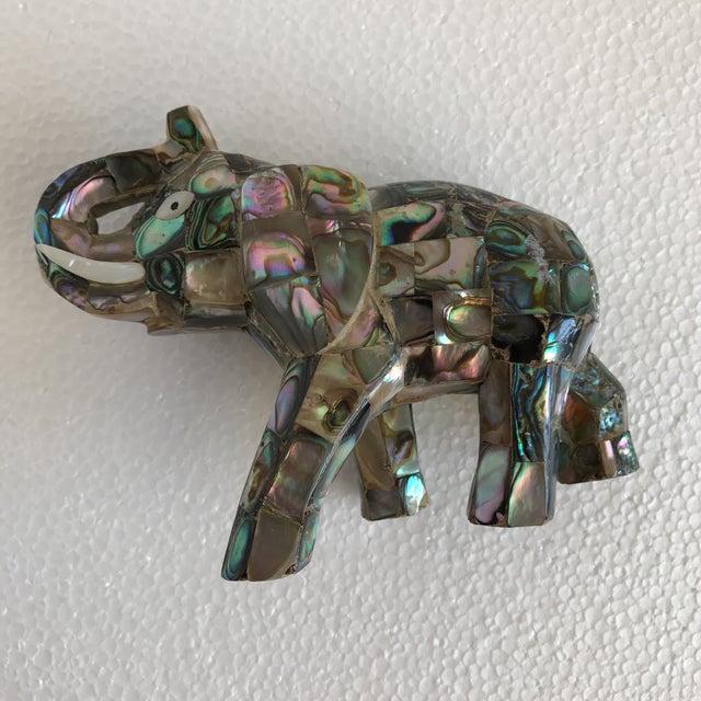 Vintage Abalone Shell Inlay Elephant Figure - Image 6 of 11