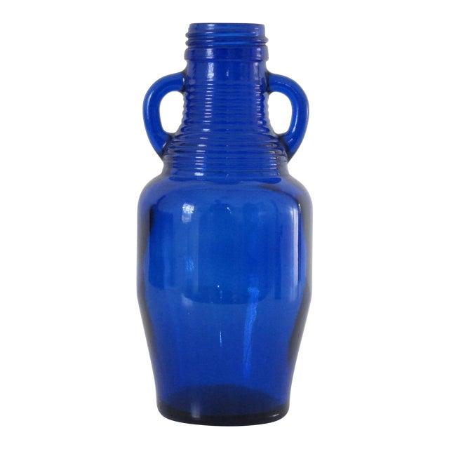 Cobalt Blue Bottle with Handles - Image 1 of 5