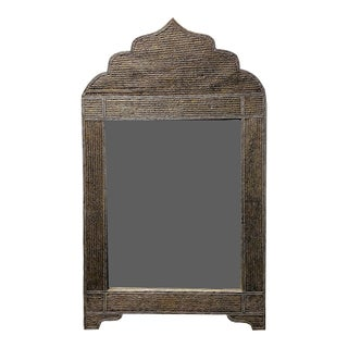 Arched Brass Moroccan Mirror With Rope Design For Sale