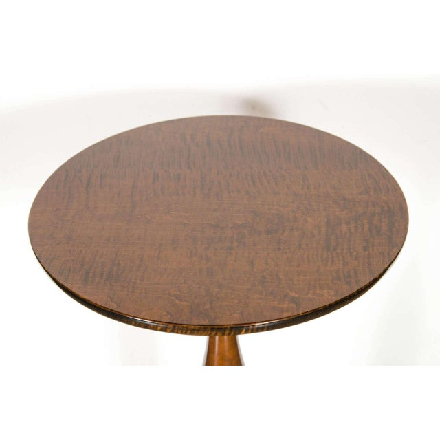 1940s Mid-Century Modernist Burled Walnut Tripod Table by Ian Ingersoll For Sale - Image 5 of 6