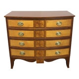 Image of Baker Historic Williamsburg Inlaid Mahogany & Satinwood Chest For Sale