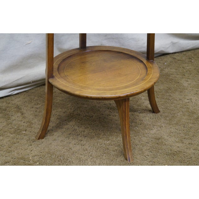 Biggs Mahogany Regency Style 3 Tier Muffin Stand For Sale - Image 10 of 10