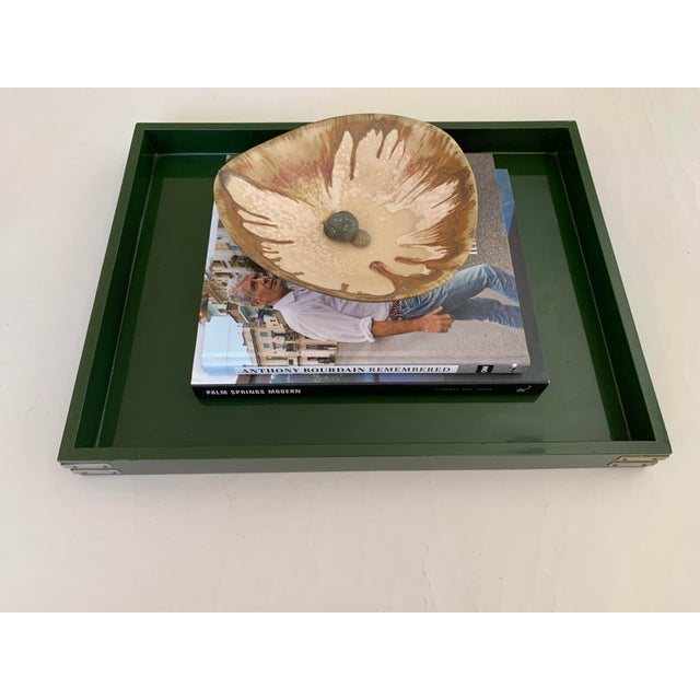 """Paint Roe Kasian, """"British Racing Car Green"""" Lacquer Tray - 1970's For Sale - Image 7 of 11"""