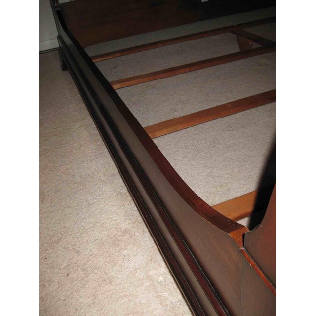 Contemporary Ethan Allen King Sleigh Bed For Sale - Image 3 of 11