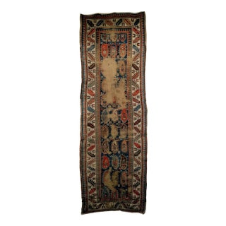 Distressed Late 1800s Kazak Runner Rug - 3′2″ × 9′2″ For Sale