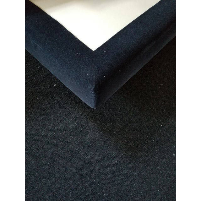Donghia Mohair King Bedframe on Recessed Base For Sale - Image 12 of 12