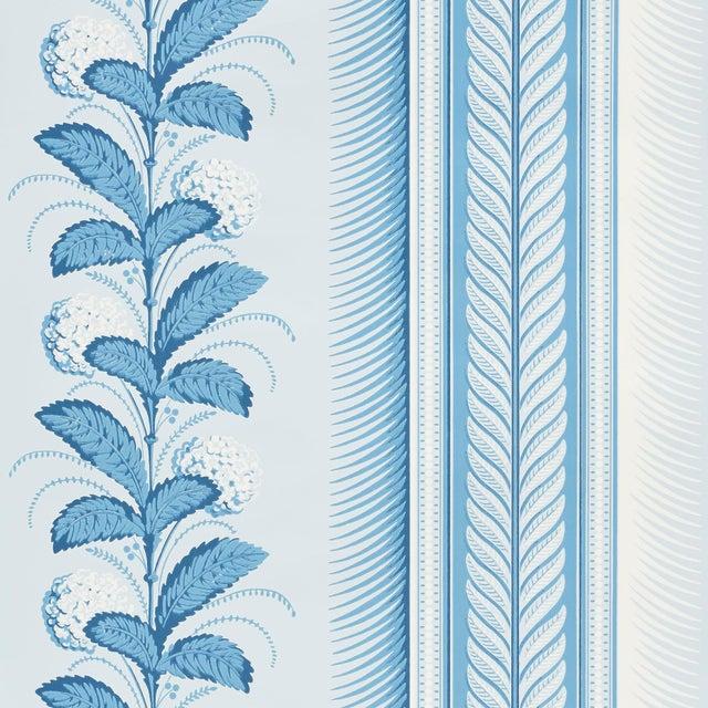 Early 21st Century Schumacher Hydrangea Drape Wallpaper in Delft For Sale - Image 5 of 5
