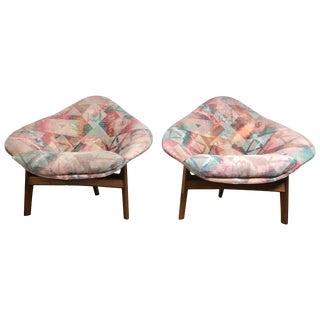 Vintage Mid-Century Modern Adrian Pearsall Walnut Lounge Chairs - A Pair For Sale
