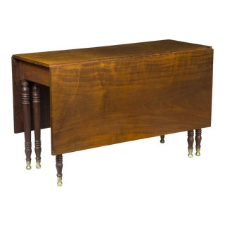 Six-Legged Sheraton Classical Mahogany Dining Table