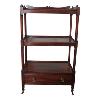 19th Century English Traditional Mahogany Étagère For Sale