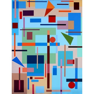Sassoon Kosian Composition With Triangles No. 1 Painting For Sale