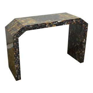 Enrique Garcel Tessellated Natural Horn Console Hall Table For Sale