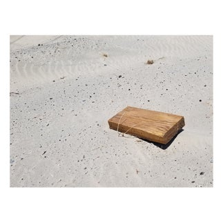 Americana Photograph of Wood Block Debris on Desert Sand