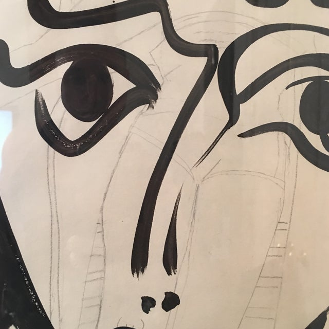 1960s Vintage Peter Keil Abstract Female Face Painting For Sale In Atlanta - Image 6 of 9