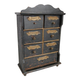 Antique Spice Cabinet For Sale
