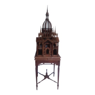 Vintage Maitland Smith Victorian Style Architectural Bird Cage For Sale