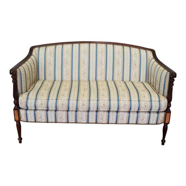 Fantastic Hickory Chair Company James River Collection Sheraton Mahogany Loveseat - Image 1 of 9