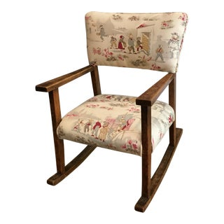 1990s Children's Upholstered Rocking Chair For Sale