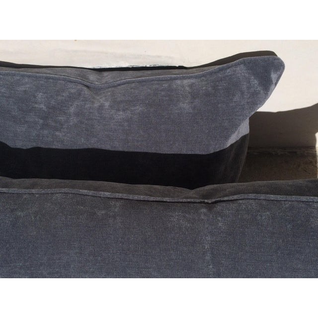 Velvet Cape Cod Blue Pillows - a Pair - Image 8 of 8