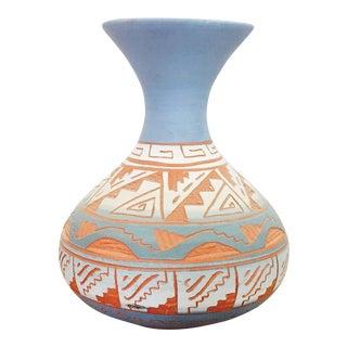 Vintage Carved Southwestern Pottery Vase