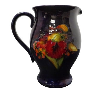 Early 20th Century Vintage Moorcroft Flambe Orchid Pitcher For Sale