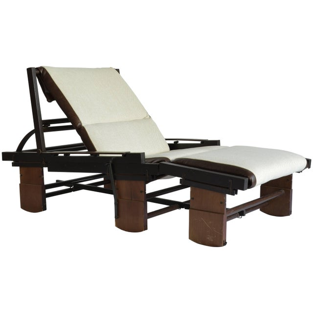 Leather Rocking Chaise Lounge by Bepi Fiori for Bernini, Italy, 1970s For Sale - Image 7 of 7