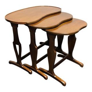 HENREDON Folio One Walnut Nesting Tables - Set of 3