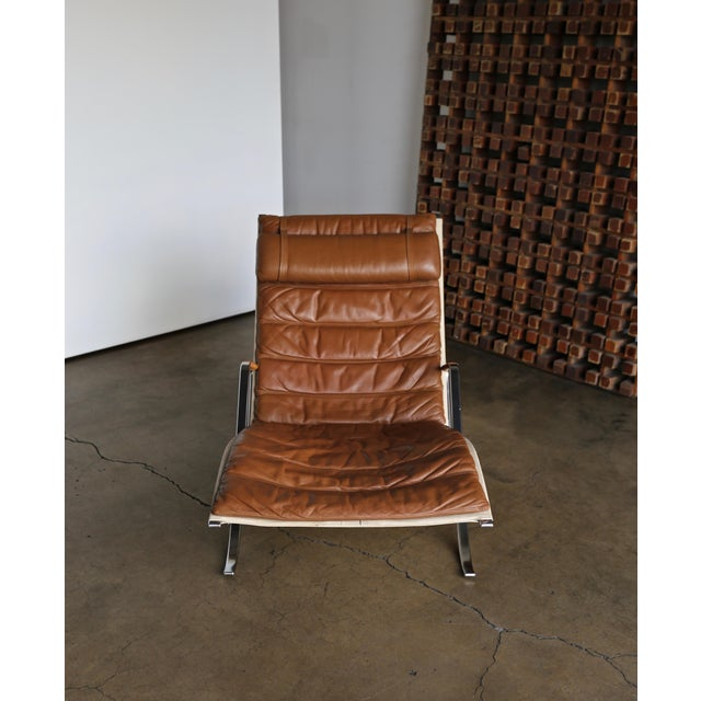 Brown Preben Fabricius and Jørgen Kastholm for Alfred Kill Grasshopper Chaise For Sale - Image 8 of 13