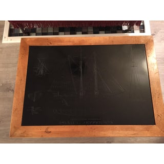 Vintage Isiah Jefferson Nautical Wood and Slate Table Preview