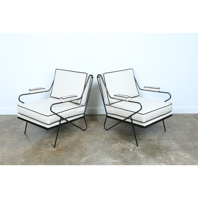 Wrought Iron Custom Hairpin Leg Chairs - A Pair - Image 5 of 11