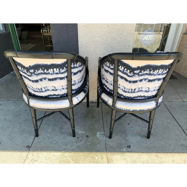 Mid-Century Faux Bamboo Side Chairs - a Pair For Sale In Los Angeles - Image 6 of 10