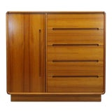 Image of Mid Century Danish Modern Teak Gentleman's Chest Dresser For Sale