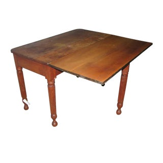 Farm Style Cherry Drop Leaf Table For Sale
